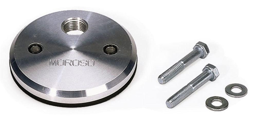 Moroso 23840 Oil Filter Adapter, Blockoff, Bolt-On, 1/2 in NPT Female Inlet, Aluminum, Blue Anodized, Chevy V8, Kit
