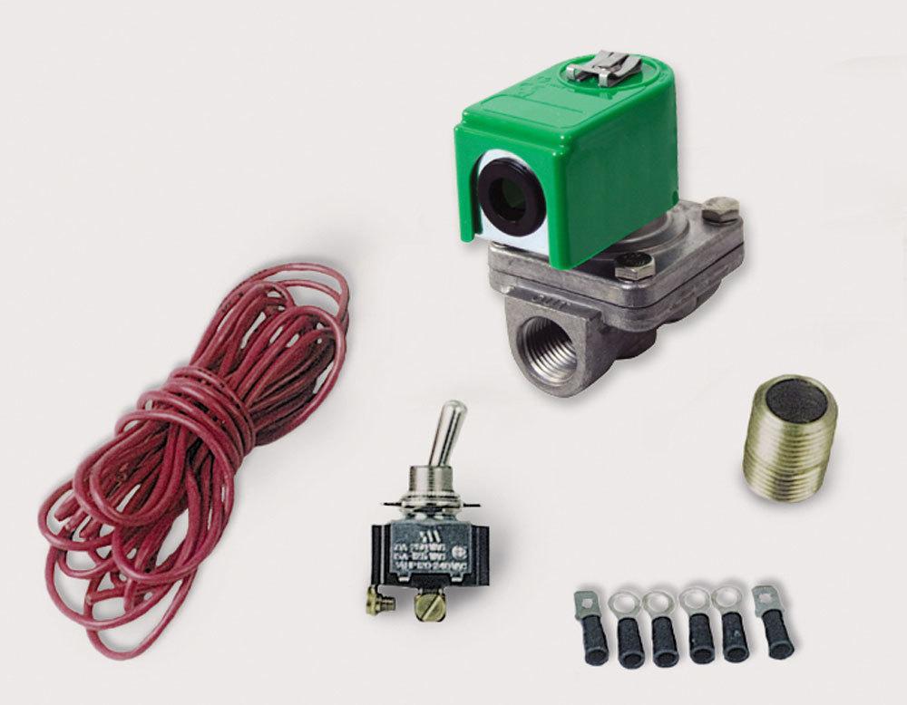 Moroso 23905 Shut Off Valve, Oil Accumulator, 12V Remote Control, Toggle Switch, 1/2 in NPT Female Ports, Kit