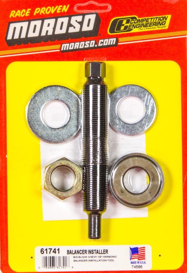 Moroso 61741 Harmonic Balancer Installation Tool, 1/2-20 in Thread, Steel, Big Block Chevy, Each