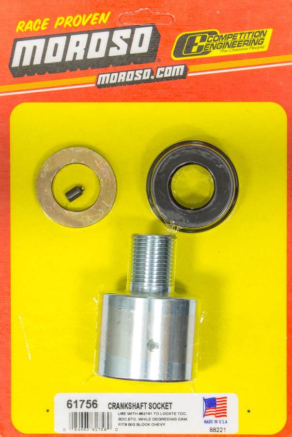 Moroso 61756 Crankshaft Turning Tool, 1/2 in Drive, Steel, Cadmium, Big Block Chevy, Each