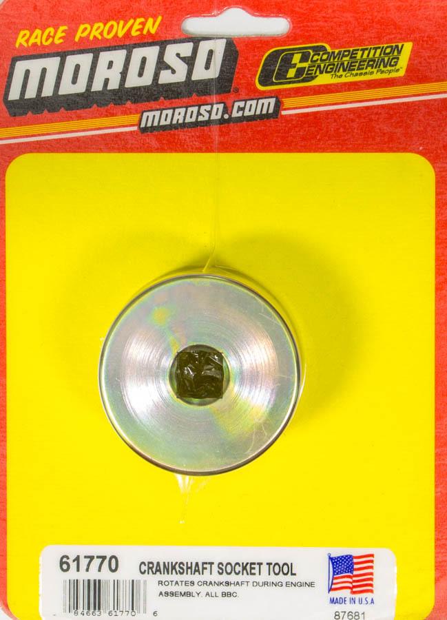 Moroso 61770 Crankshaft Turning Tool, 1/2 in Drive, Steel, Cadmium, Big Block Chevy, Each