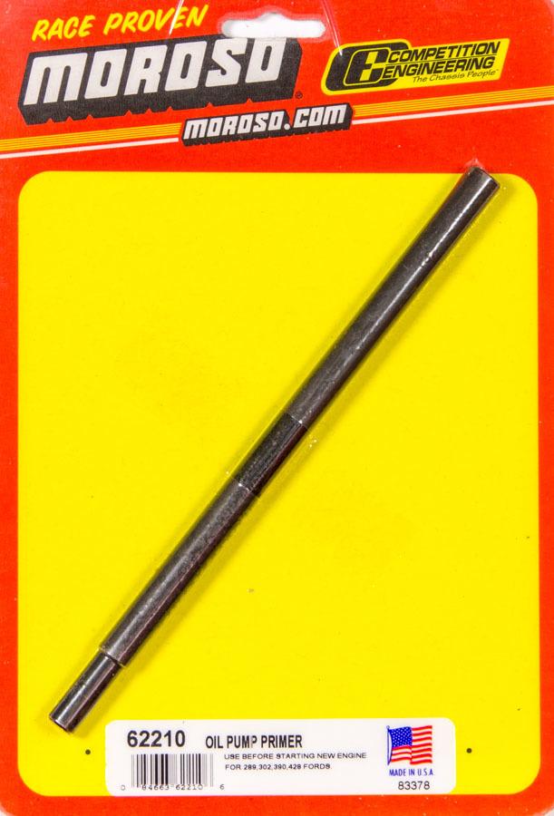 Moroso 62210 Oil Pump Primer, 3/8 in Drill Chuck, Steel, Black Oxide, 1/4 in Hex Male Drive Ford, Each