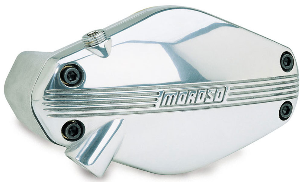Moroso 63539 Water Pump, Electric, High Flow, Light Weight, 1 in NPT Female Inlet, 5 in Height, Billet Aluminum, Polished / Natural, Small Block Chevy, Kit
