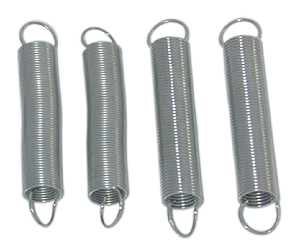 Moroso 64917 Throttle Return Spring, Two 2-1/2 in Length and Two 2-3/4 in Length, Stainless, Natural, Holley Carburetors, Kit