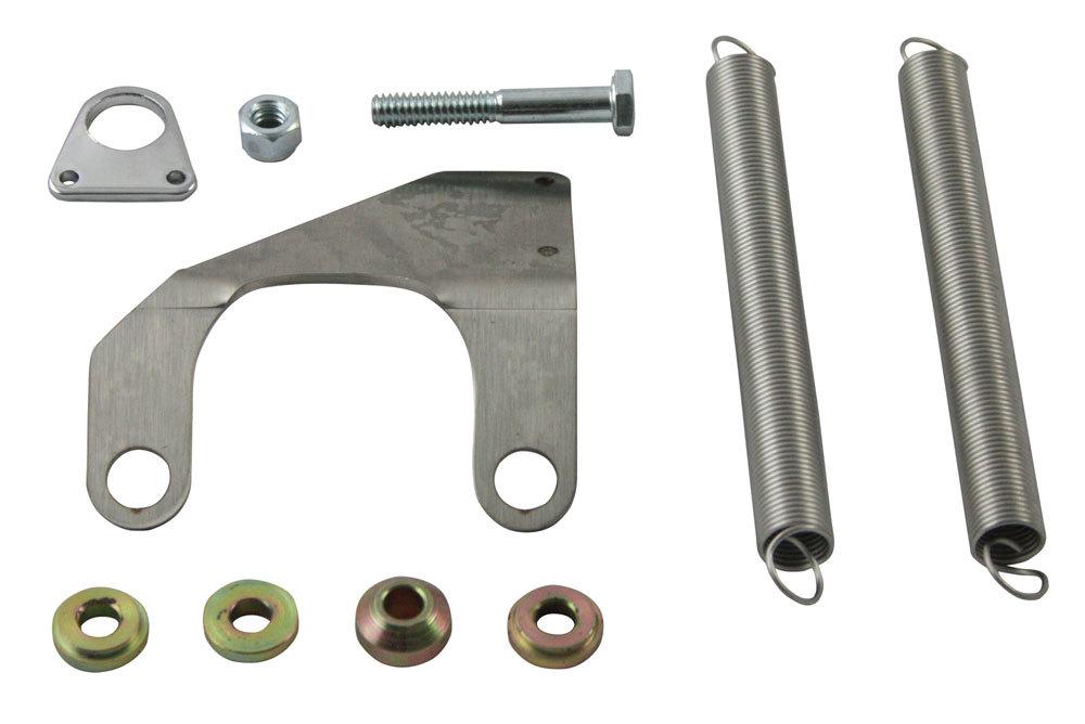 Moroso 64926 Throttle Return Spring Kit, Manifold Mount, 1-13/16 in Tall Bracket, Steel, Chrome, Big Block Chevy, Kit