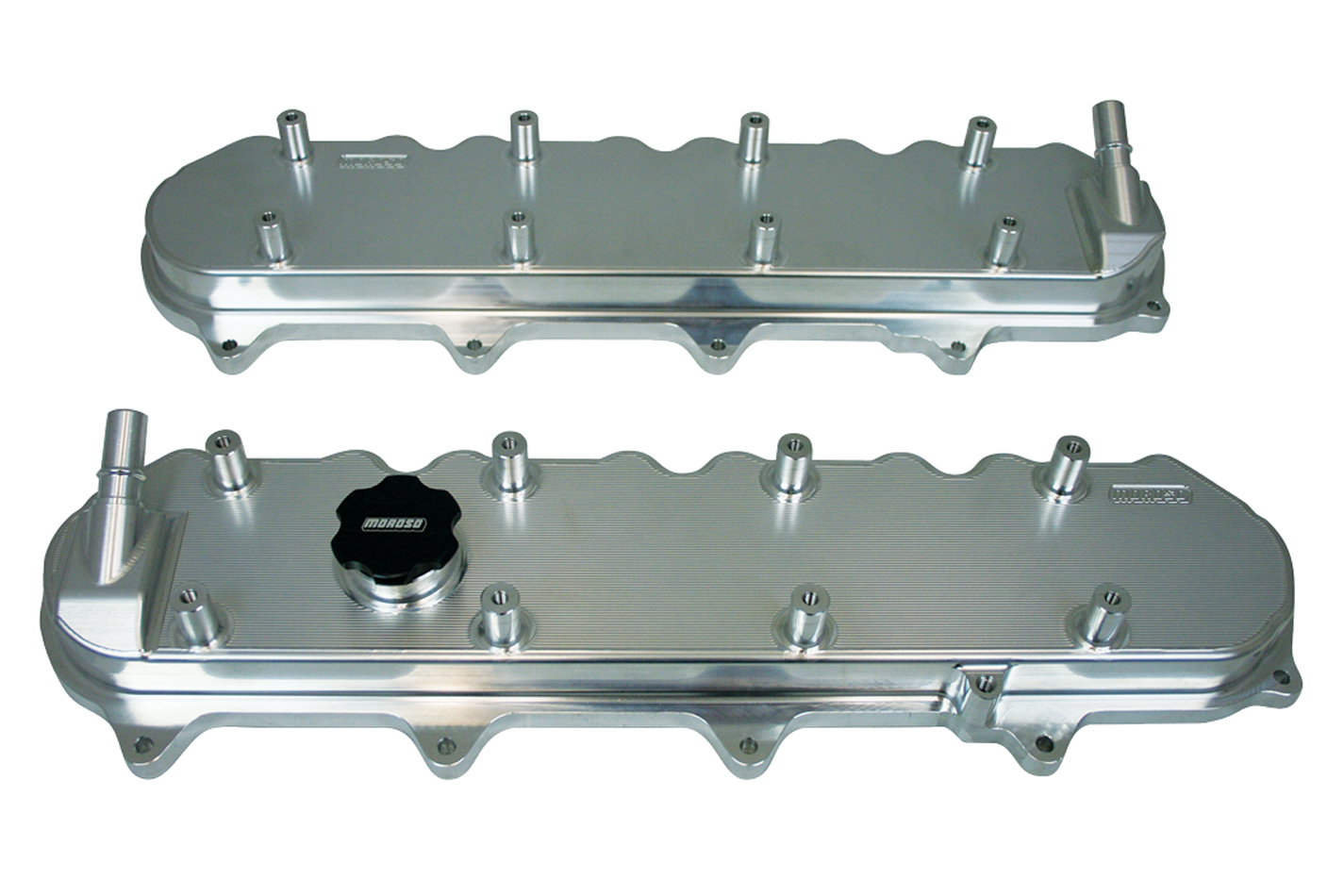 Moroso 68494 Valve Cover, Short, Coil Pack Mounts, Fabricated Aluminum, Natural, GM LT-Series, Each