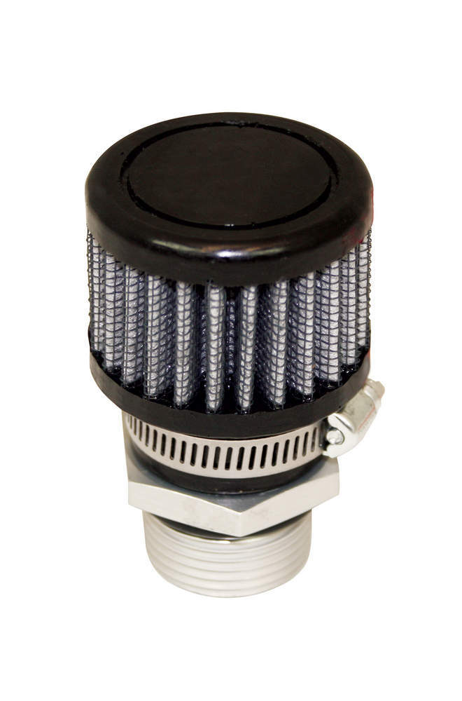 Moroso 68848 Breather, Screw-In, Round, 1-1/4 in Threaded Bung, Clamp-On Filter, Kit