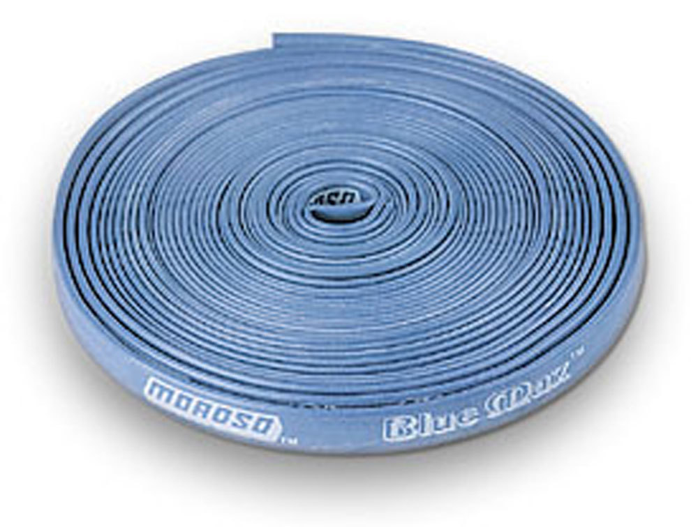 Moroso 72000 Spark Plug Wire Sleeve, 7 mm-8 mm Wires, 25 ft, Fiberglass / Silicone, Blue, Each