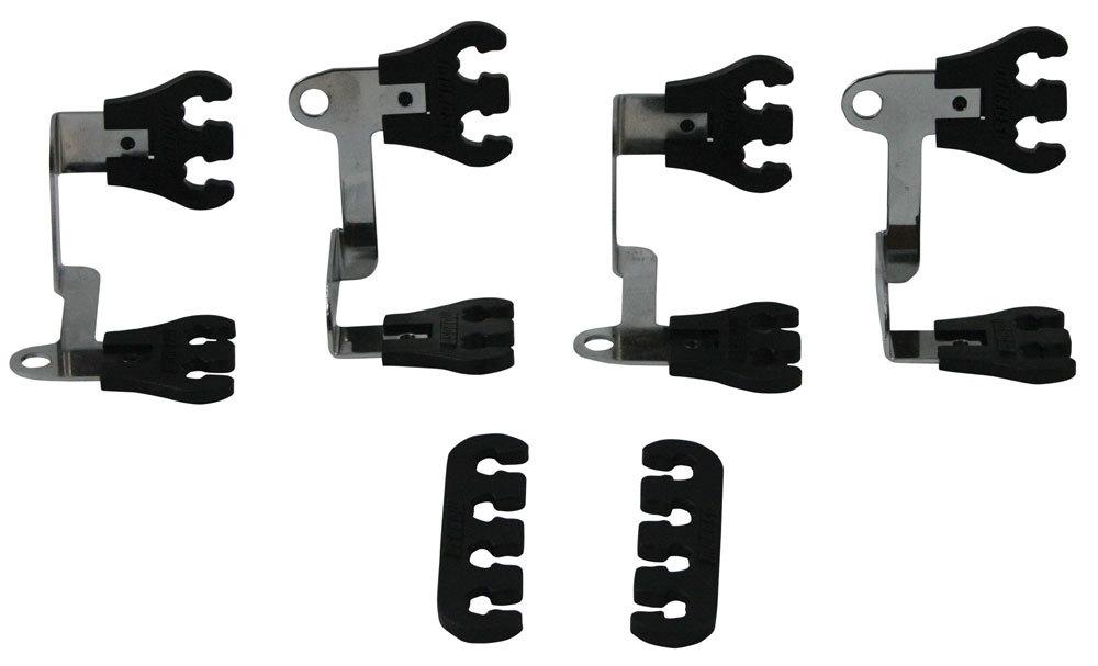 Moroso 72167 Spark Plug Wire Loom, Show Car, Valve Cover Mount, 7-9 mm, Black / Chrome, Universal, Kit