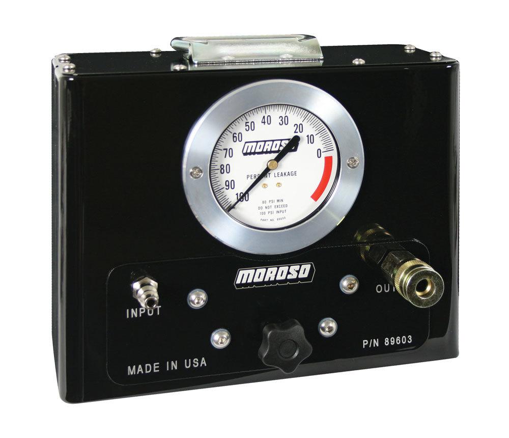 Moroso 89603 Leak Down Tester, Mechanical, Analog, 3 ft Hose, Kit