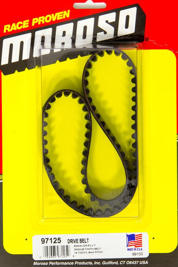 Moroso 97125 HTD Drive Belt, 23.60 in Long, 1 in Wide, 8 mm Pitch, Each