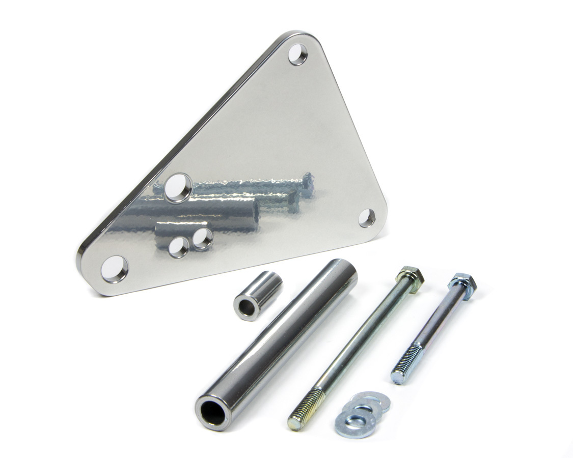 March Performance 1460-09 Air Conditioning Eliminator Bracket, Aluminum, Clear Powder Coat, Small Block Ford, Kit