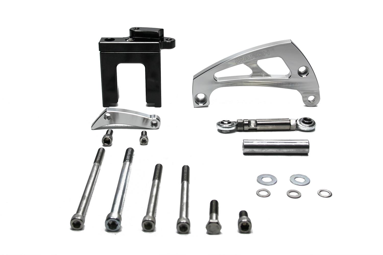 Chevy BB Alternator Brkt Kit Polished