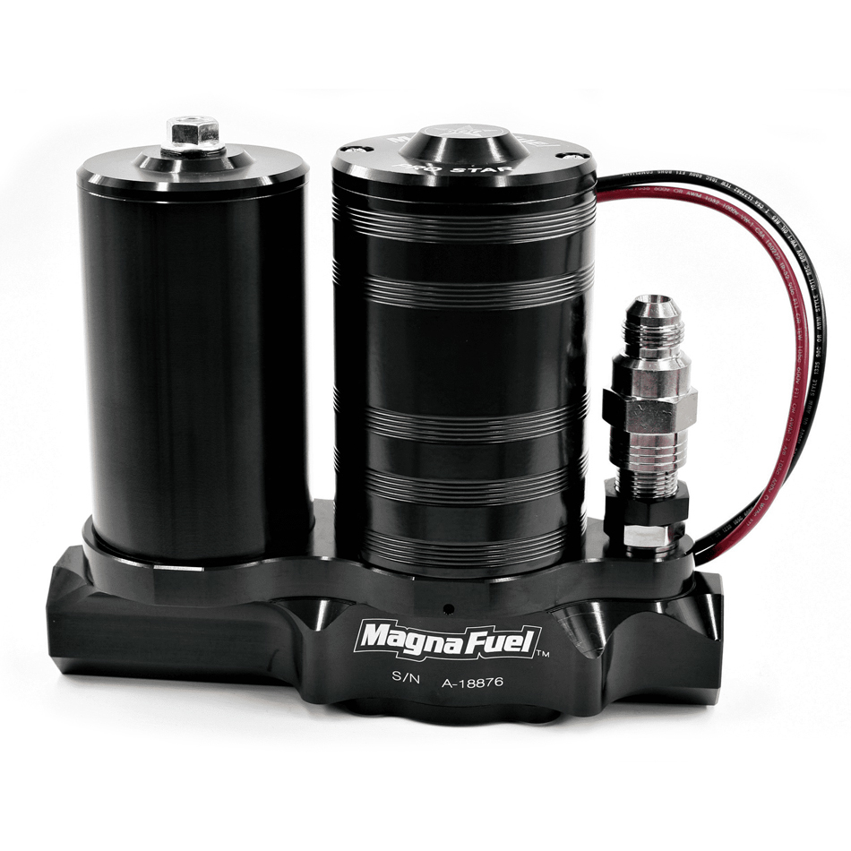 Magnafuel MP-4450-BLK Fuel Pump, ProStar 500, Electric, In-Line, 25-36 psi, 12 AN Inlet, 12 AN Outlet, 8 AN Bypass, Fuel Filter Included, Black, E85 / Gas, Each