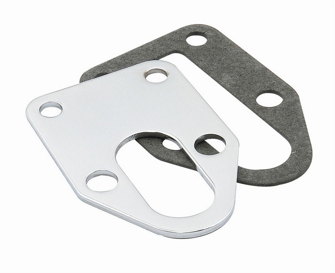 Mr Gasket 1514 Fuel Pump Mounting Plate, Steel, Chrome, Small Block Chevy, Each