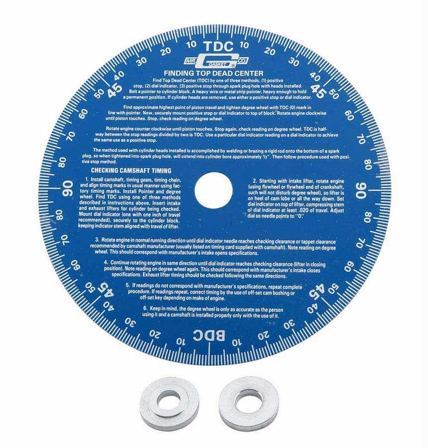 Mr Gasket 1570 Degree Wheel, 7 in Diameter, Aluminum, Blue Anodized, Each