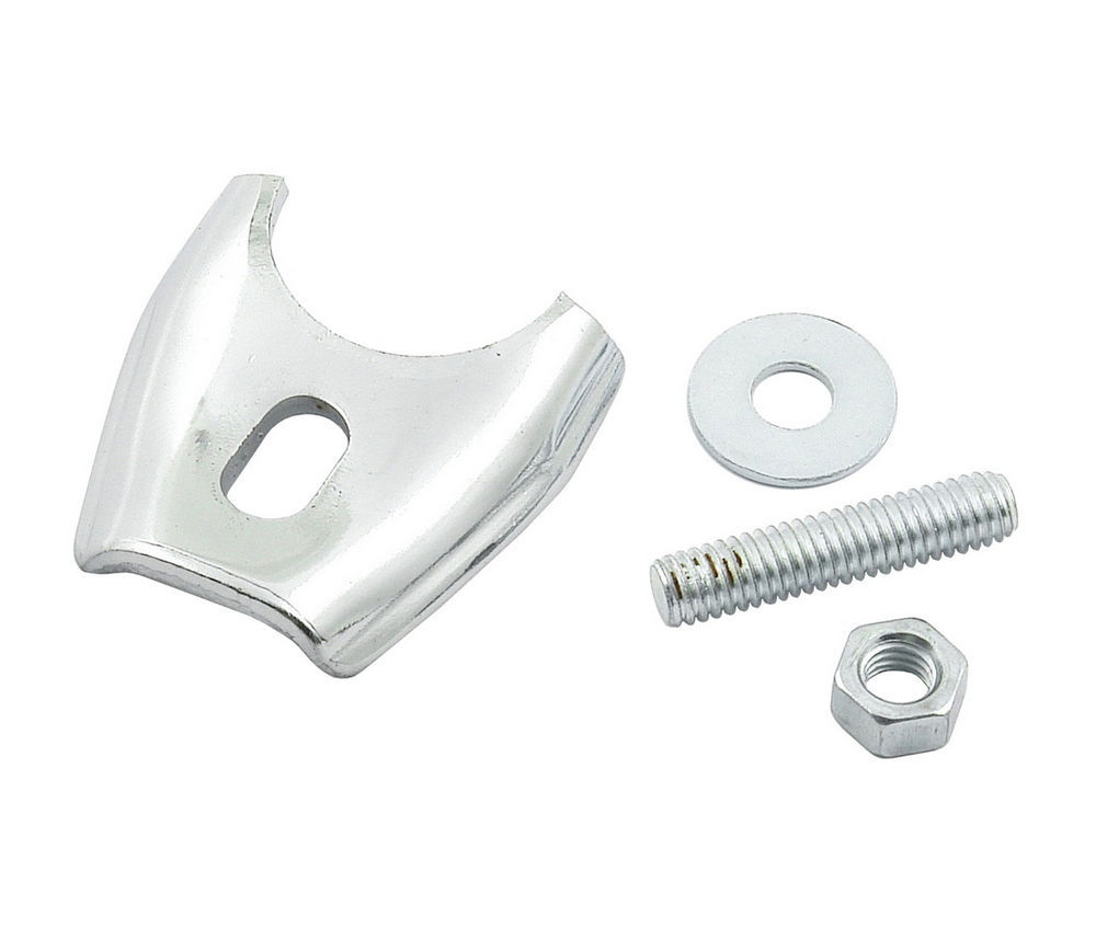 Mr Gasket 2502 Distributor Hold Down, Stud Mounted, Hardware Included, Steel, Chrome, Ford, Each