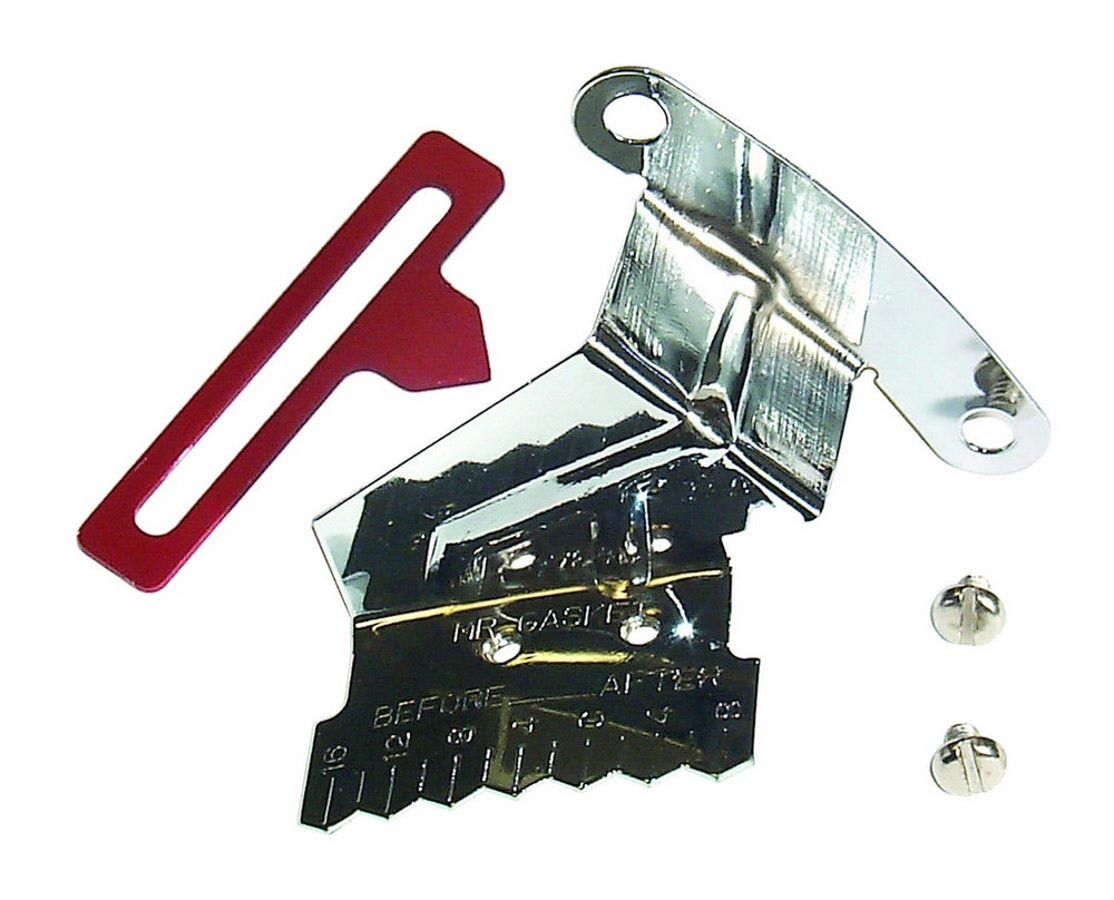 Mr Gasket 4598 Timing Pointer, Adjustable, Steel, Chrome, 8 in OD Balancer, Small Block Chevy, Each