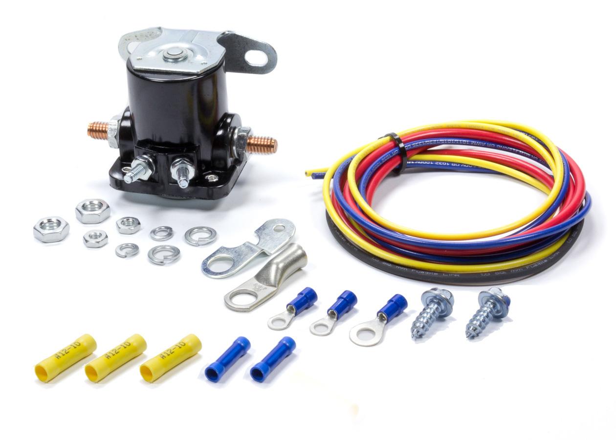 Mr Gasket 51340G Starter Solenoid, Hot Start Kit, Remote, Hardware / Wiring Included, Black, Universal, Kit