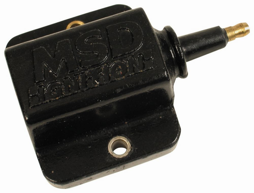 MSD Ignition 42921 Ignition Coil, E-Core, 0.200 ohm, Male HEI, 30000V, Isolated Ground, Black, Each
