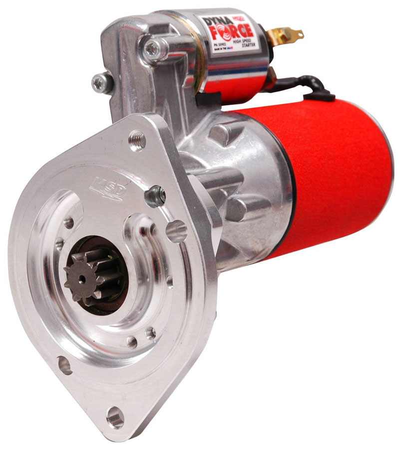 MSD Ignition 50902 Starter, DynaForce High Speed, 3.73:1 Gear Reduction, Red, Small Block Ford, Each