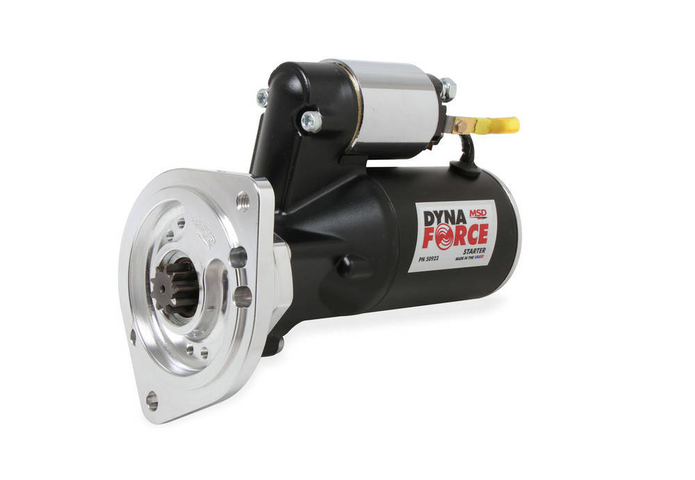 MSD Ignition 50923 Starter, DynaForce High Speed, 4.4:1 Gear Reduction, Black, Big Block Ford / Cleveland / Modified, Each