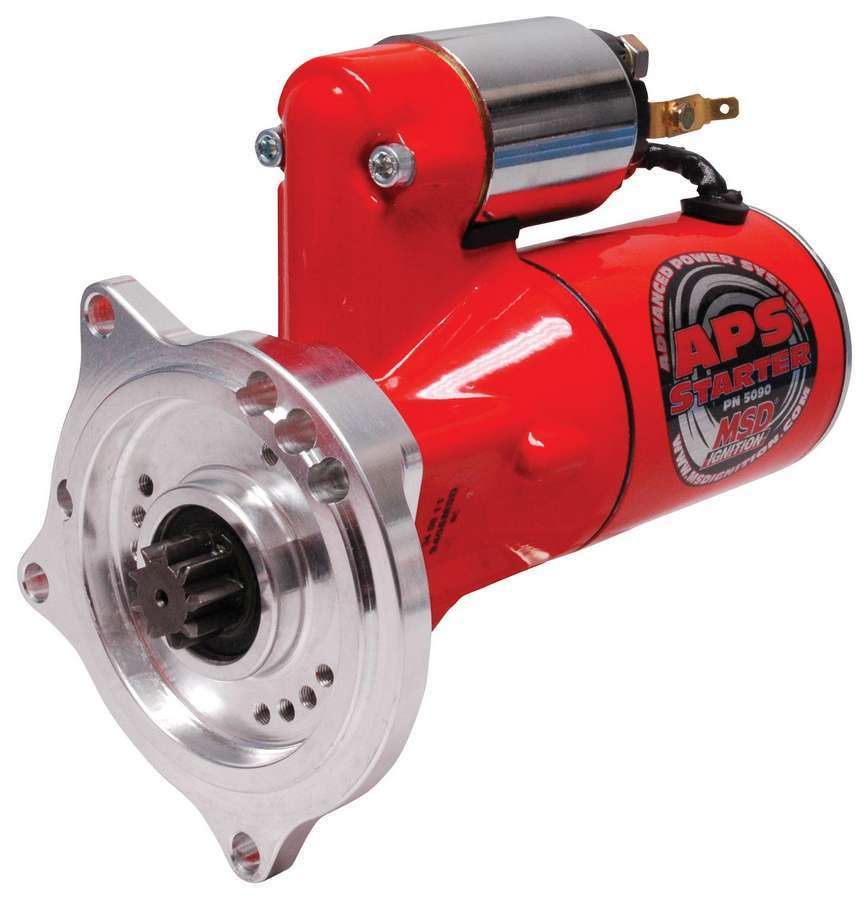 MSD Ignition 5093 Starter, DynaForce, 4.4:1 Gear Reduction, Red, Ford FE-Series, Each