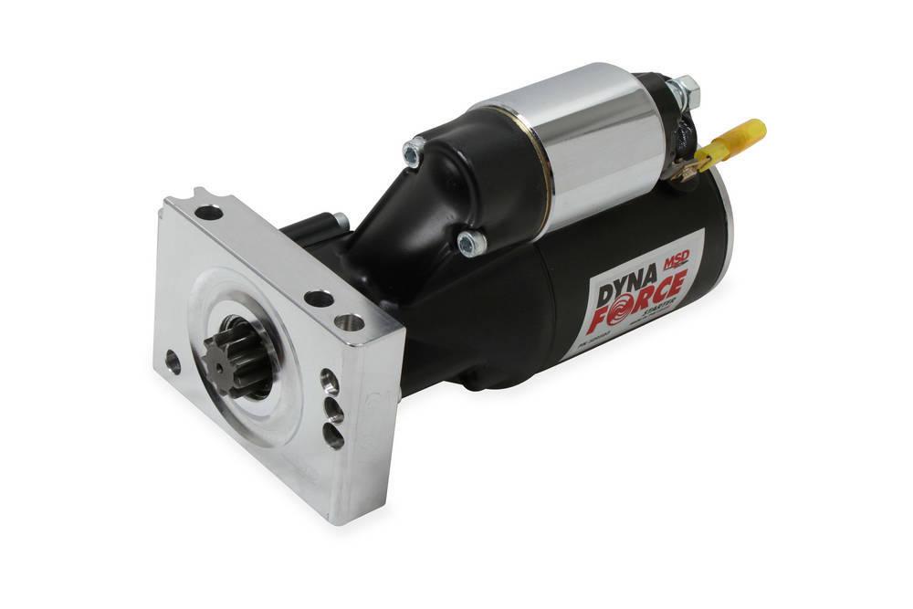 MSD Ignition 509503 Starter, DynaForce, 4.4:1 Gear Reduction, Black, 153 / 168 Tooth Flywheels, Straight Bolt, Chevy V8, Each