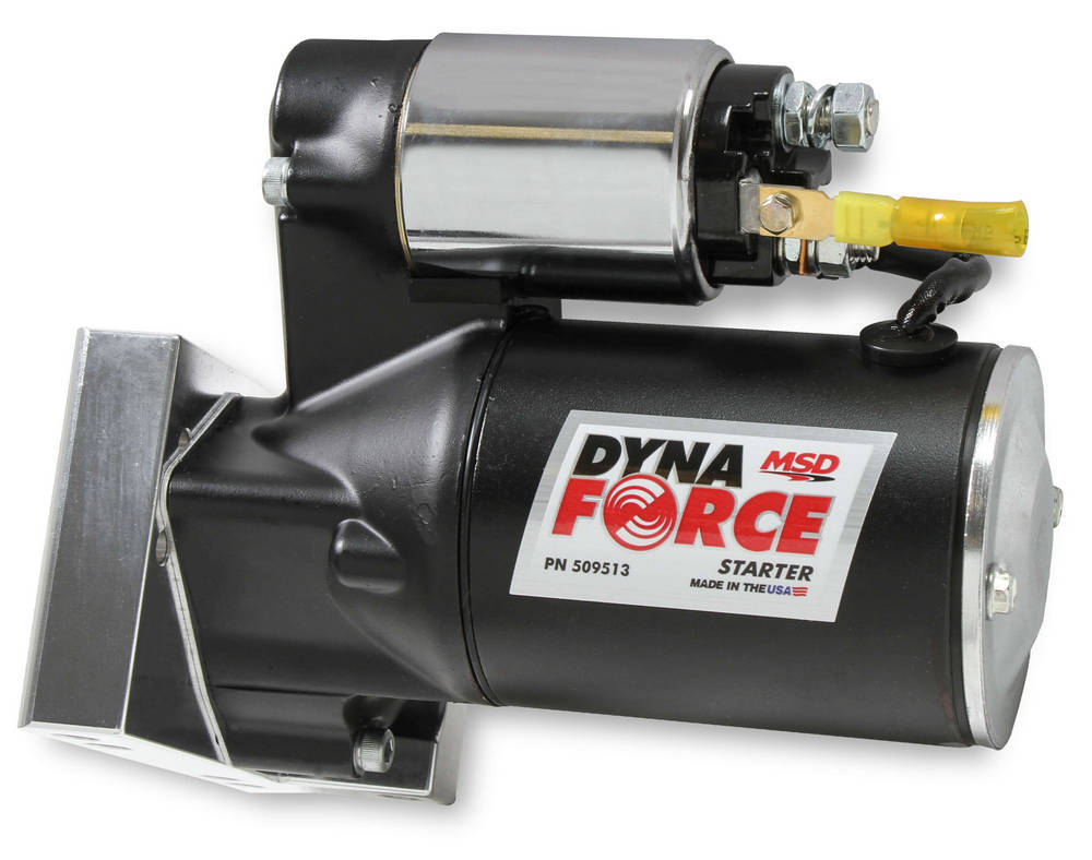MSD Ignition 509513 Starter, DynaForce, 4.4:1 Gear Reduction, Black, 168 Tooth Flywheels, Staggered Mount, Chevy V8, Each