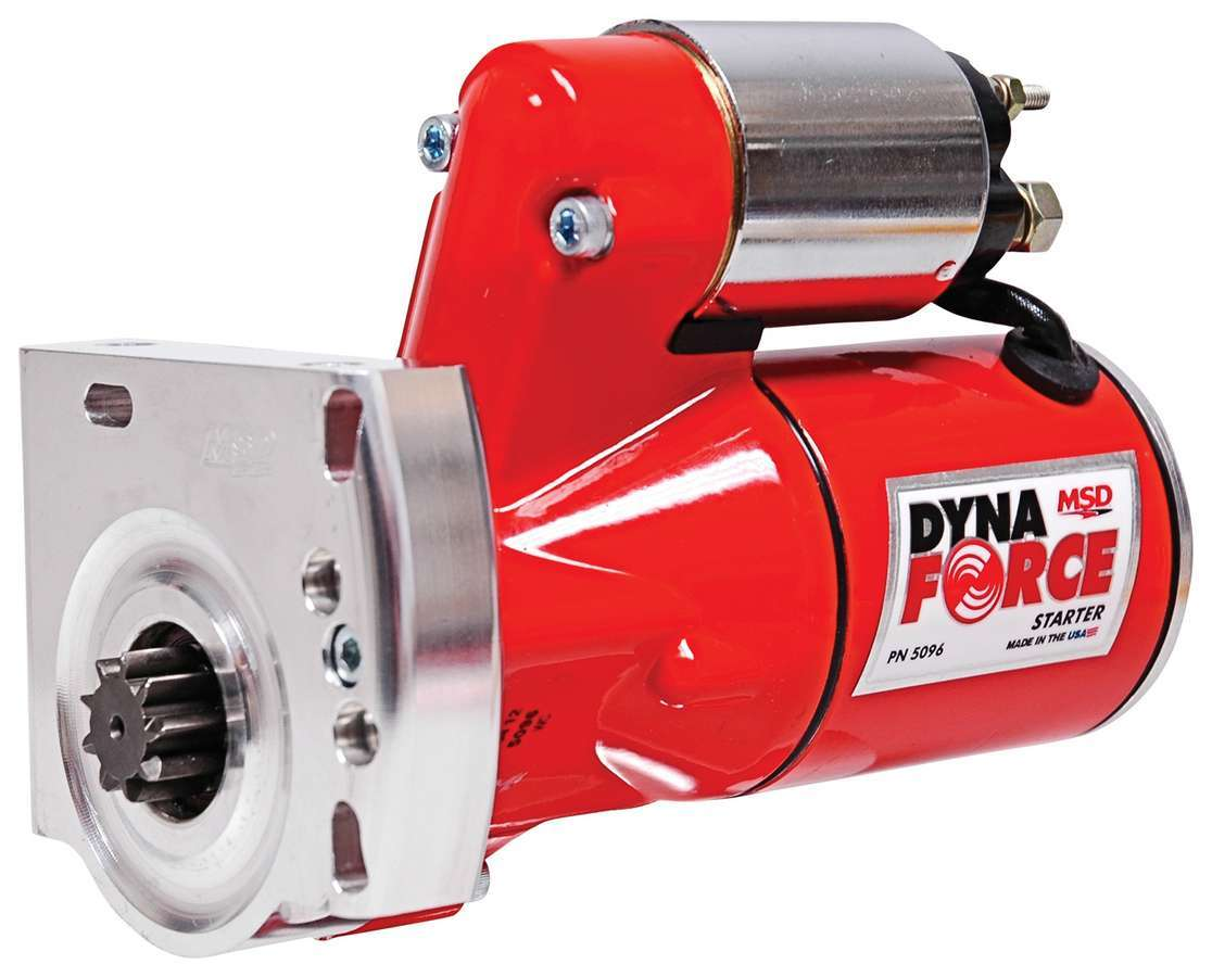 MSD Ignition 5096 Starter, DynaForce, 4.4:1 Gear Reduction, Red, GM LS-Series, Each