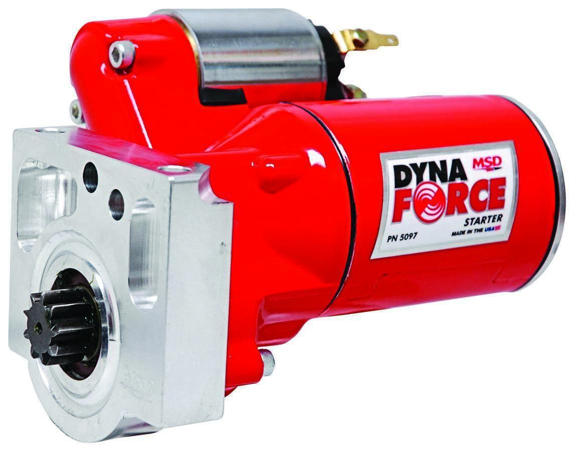 MSD Ignition 5097 Starter, DynaForce, 4.4:1 Gear Reduction, Red, Oldsmobile / Pontiac V8, Each
