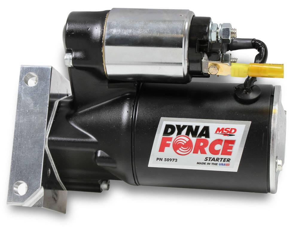 MSD Ignition 50973 Starter, DynaForce, 4.4:1 Gear Reduction, Black, Oldsmobile/Pontiac V8, Each