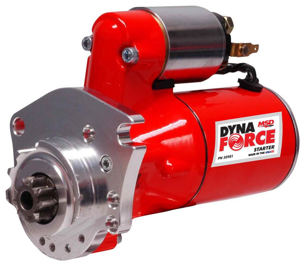 MSD Ignition 50981 Starter, DynaForce, 4.4:1 Gear Reduction, Red, Mini Starter, Mopar V8, Each