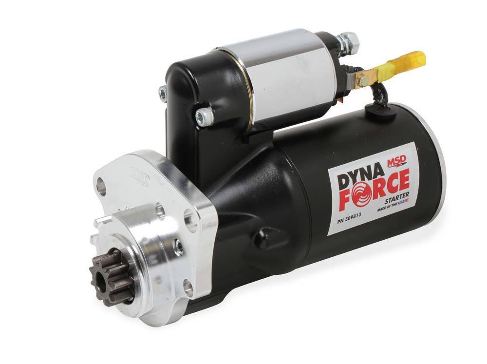 MSD Ignition 509813 Starter, DynaForce, 4.4:1 Gear Reduction, Black, Mini Starter, Mopar V8, Each