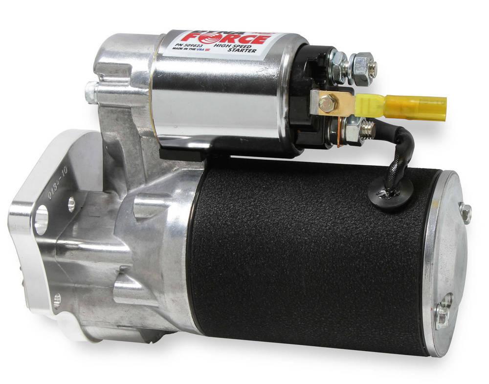MSD Ignition 509823 Starter, DynaForce High Speed, 3.73:1 Gear Reduction, Black Paint, Mopar V8, Each