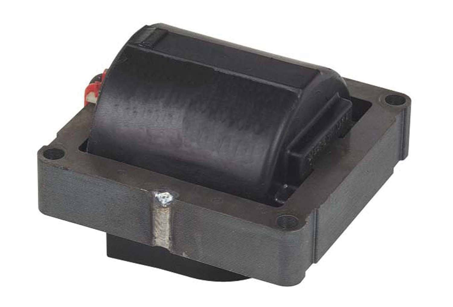 MSD Ignition 5525 Ignition Coil, Street Fire, E-Core, Coil in Cap, Black, Each