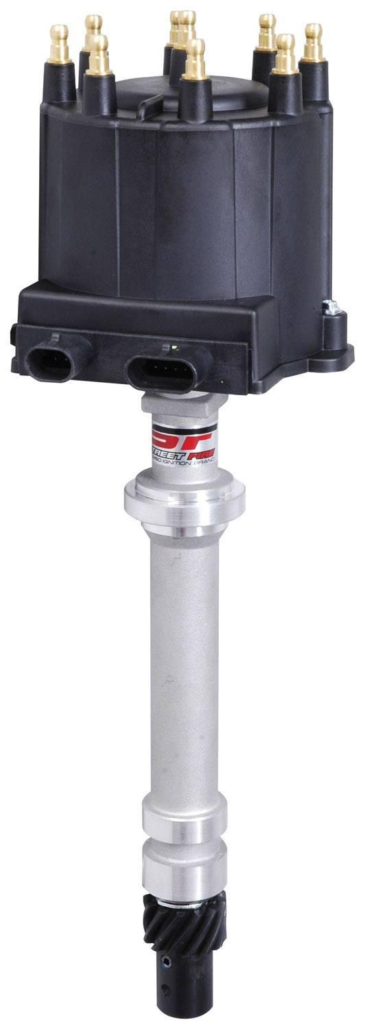 MSD Ignition 5591 Distributor, Street Fire GM EFI, Magnetic Pickup, Electronic Advance, HEI Style Terminal, Black, Remote Coil, Small Block Chevy, Each