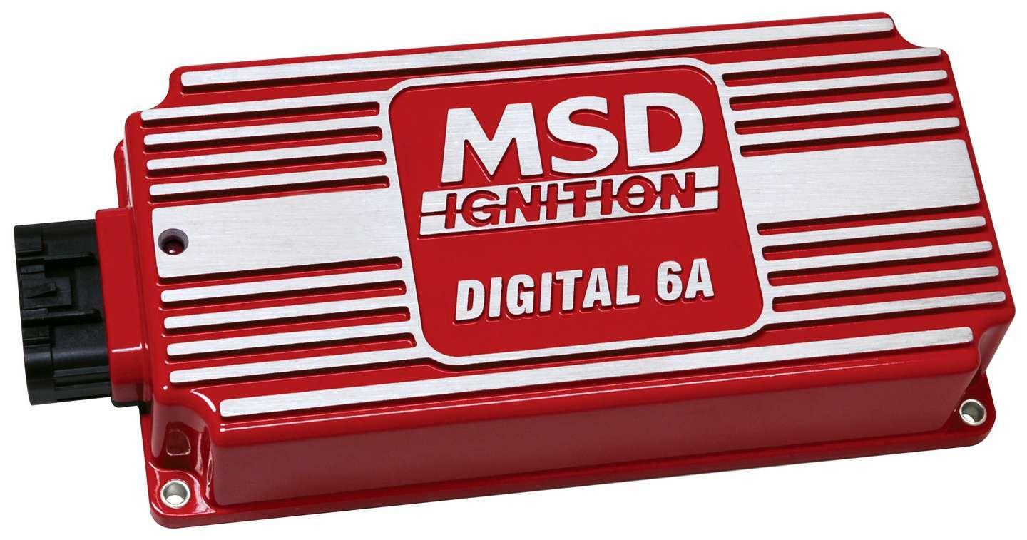 MSD Ignition 6201 Ignition Box, Digital 6A, Digital, CD Ignition, Multi-Spark, 45000V, Red, Each
