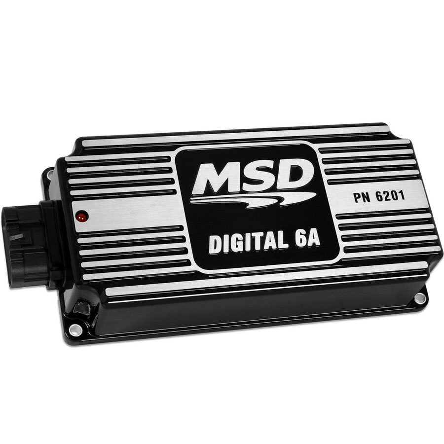 MSD Ignition 62013 Ignition Box, Digital 6A, Digital, CD Ignition, Multi-Spark, 45000V, Black, Each