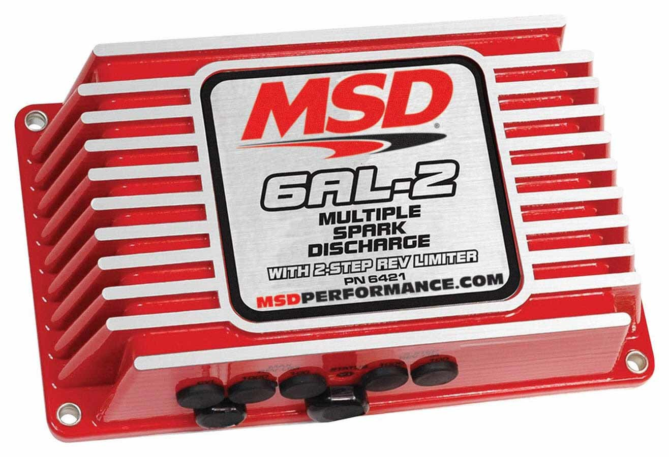 MSD Ignition 6421 Ignition Box, Digital 6AL-2, Digital, CD Ignition, Multi-Spark, 45000V, 2-Step Rev Limiter, Each