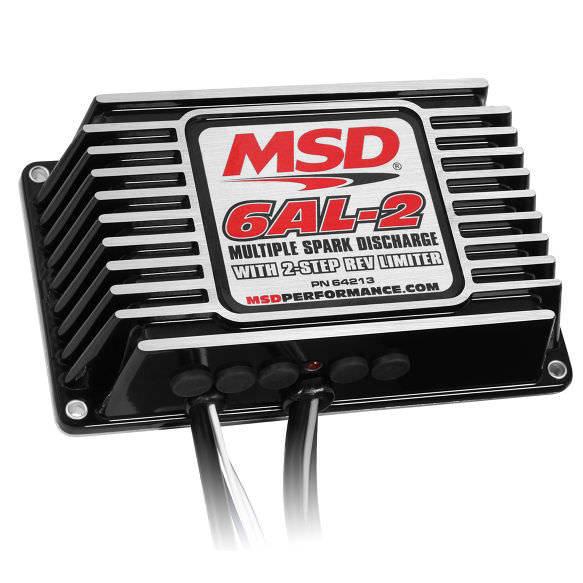 MSD Ignition 64213 Ignition Box, 6AL-2, Digital, CD Ignition, Multi-Spark, 45000V, 2-Step Rev Limit, Programmable Timing Curves, Step Retard, Each