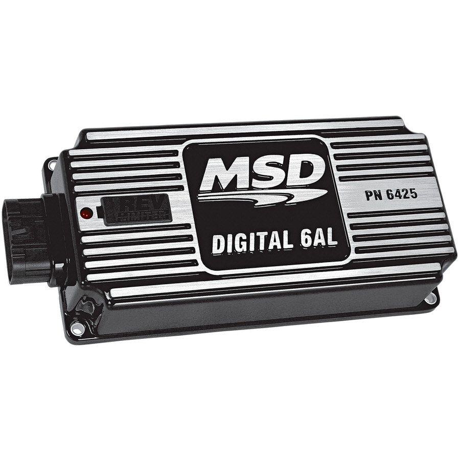 MSD Ignition 64253 Ignition Box, Digital 6AL, Digital, CD Ignition, Multi-Spark, 45000V, Soft Touch Rev Limiter, Black, Each