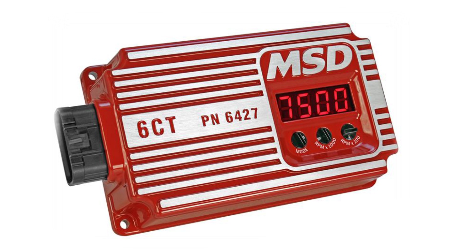 MSD Ignition 6427 Ignition Box, 6CT, Analog, CD Ignition, Multi-Spark, 45000V, Rev Limiter, Red, Each