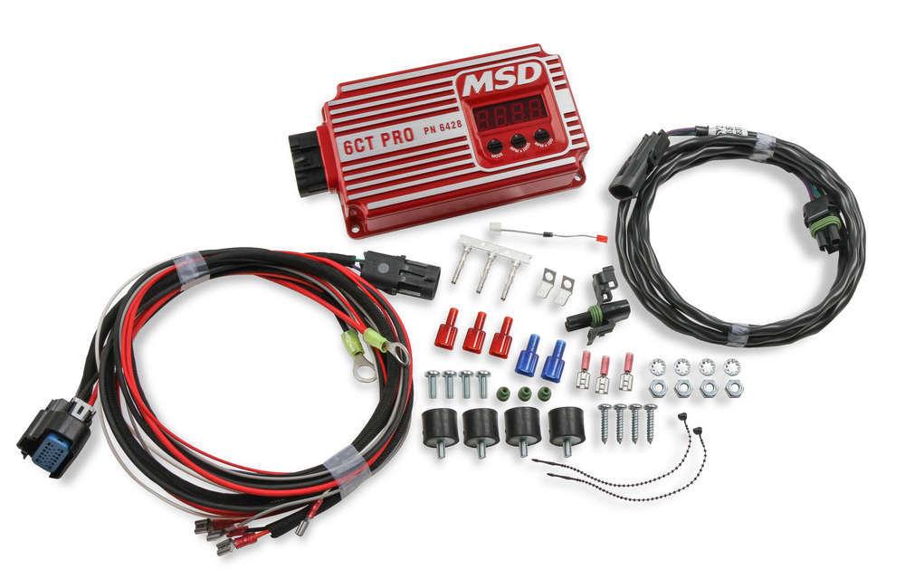 MSD Ignition 6428 Ignition Box, 6CT Pro, Analog, CD Ignition, Multi-Spark, 45000V, Rev Limiter, Red, Each