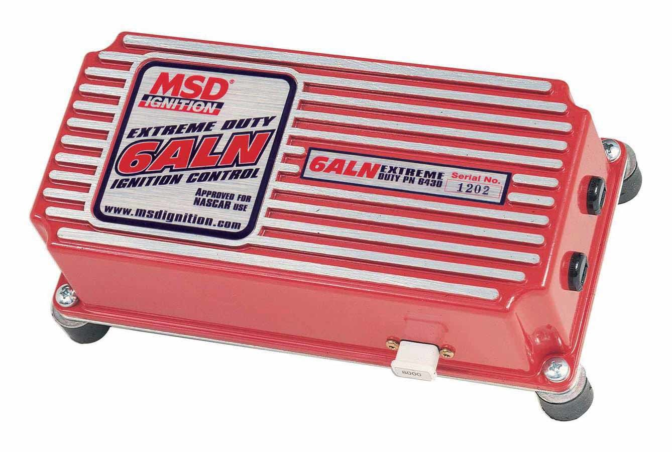 MSD Ignition 6430 Ignition Box, Extreme Duty 6ALN, Analog, CD Ignition, Multi-Spark, 45000V, Rev Limiter, Weathertight Connectors, Each