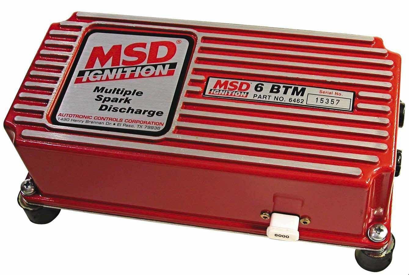 MSD Ignition 6462 Ignition Box, 6 BTM, Analog, CD Ignition, Multi-Spark, 45000V, Boost Retard Dial, Soft Touch Rev Limiter, Each