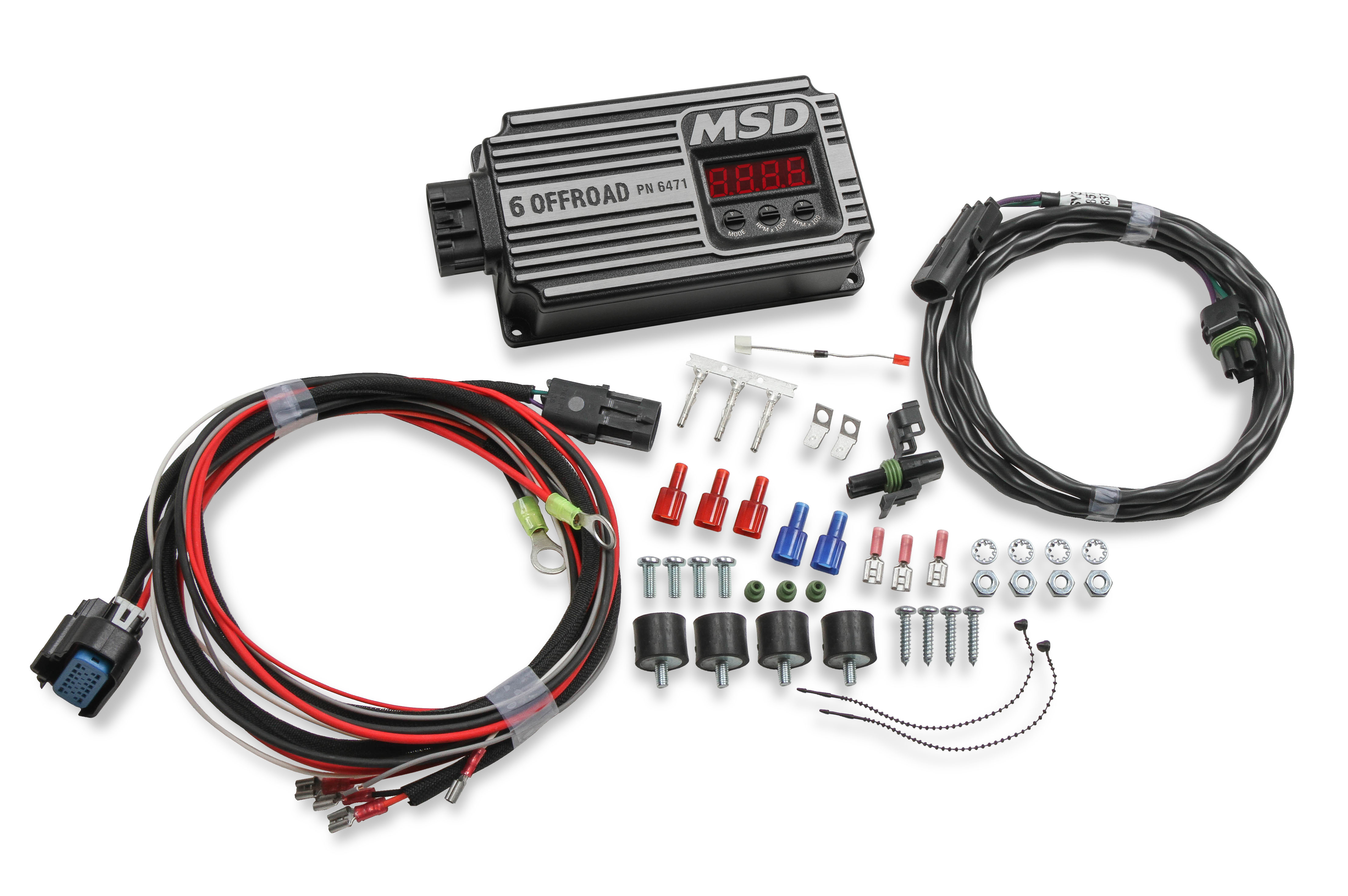MSD Ignition 6471 Ignition Box, Digital-6 OFFROAD, Digital, CD Ignition, Multi-Spark, 45000V, 2-Step Rev Limiter, Step Retard, Each