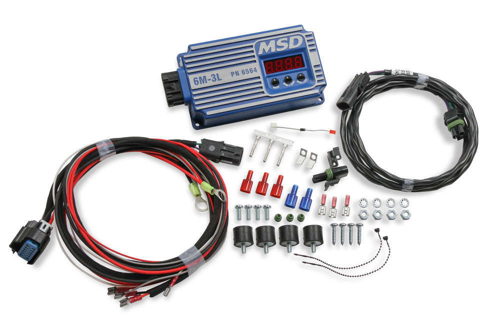 MSD Ignition 6564 Ignition Box, 6M-3 L, Digital, CD Ignition, Multi-Spark, 45000V, Rev Limiter, Weathertight Connectors, Marine, Each