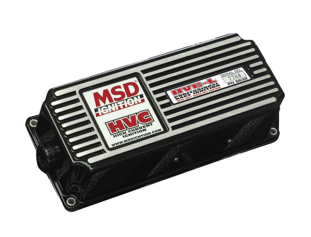 MSD Ignition 6632 Ignition Box, 6 HVC-L, Analog, CD Ignition, Multi-Spark, 40000V, Soft Touch Rev Limiter, Deutsch Connectors, Each