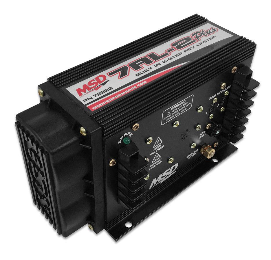 MSD Ignition 72223 Ignition Box, 7AL-2 Plus, Analog, CD Ignition, Multi-Spark, 47000V, 2-Step Rev Limiter, Black, Each